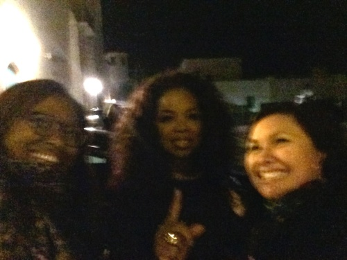 Oprah and I, with my friend Carla